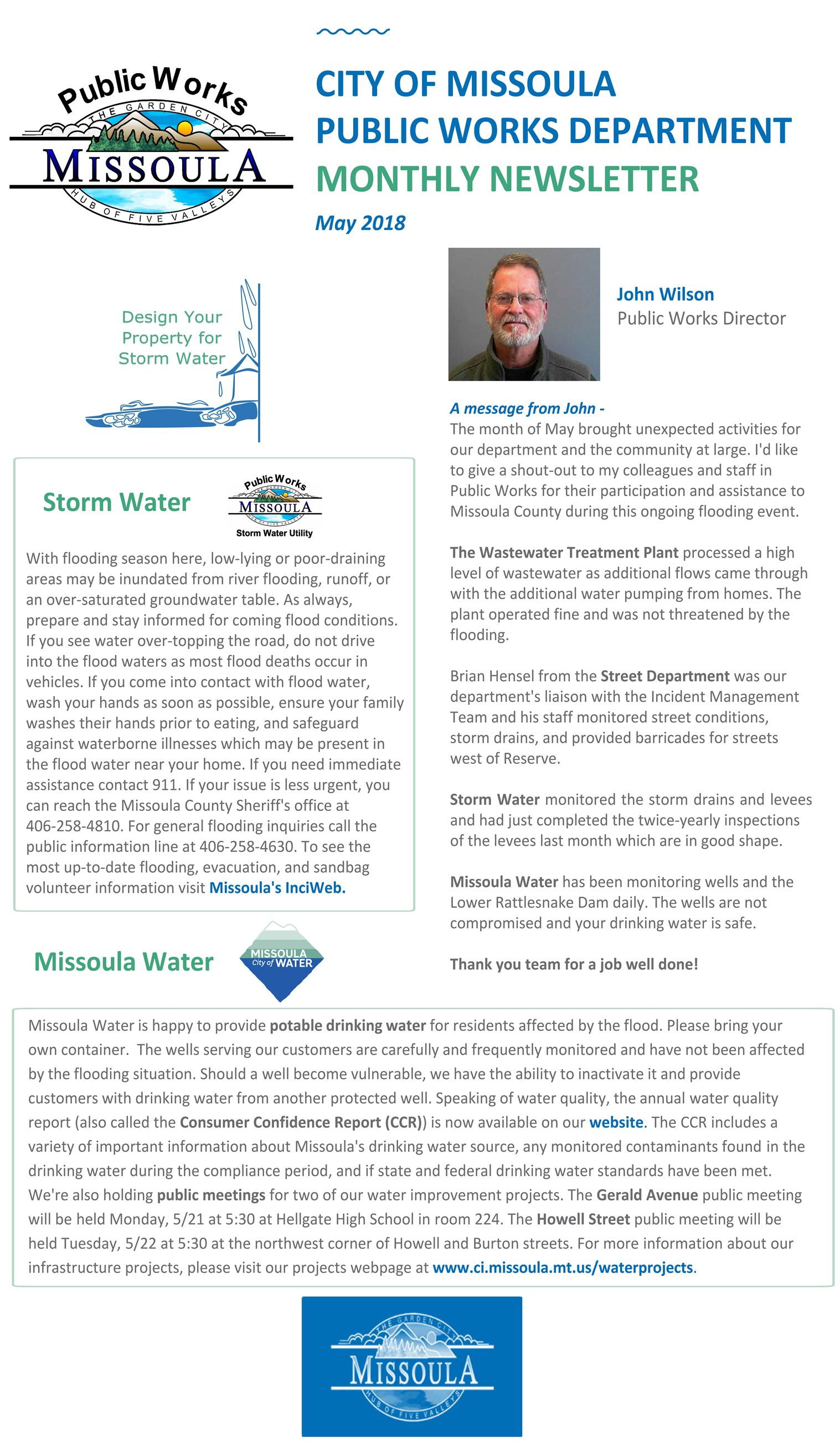 May 2018 PW newsletter Front Page