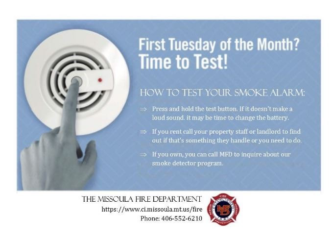 test your smoke alarms information graphic
