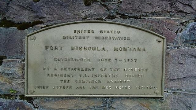 Fort Missoula sign