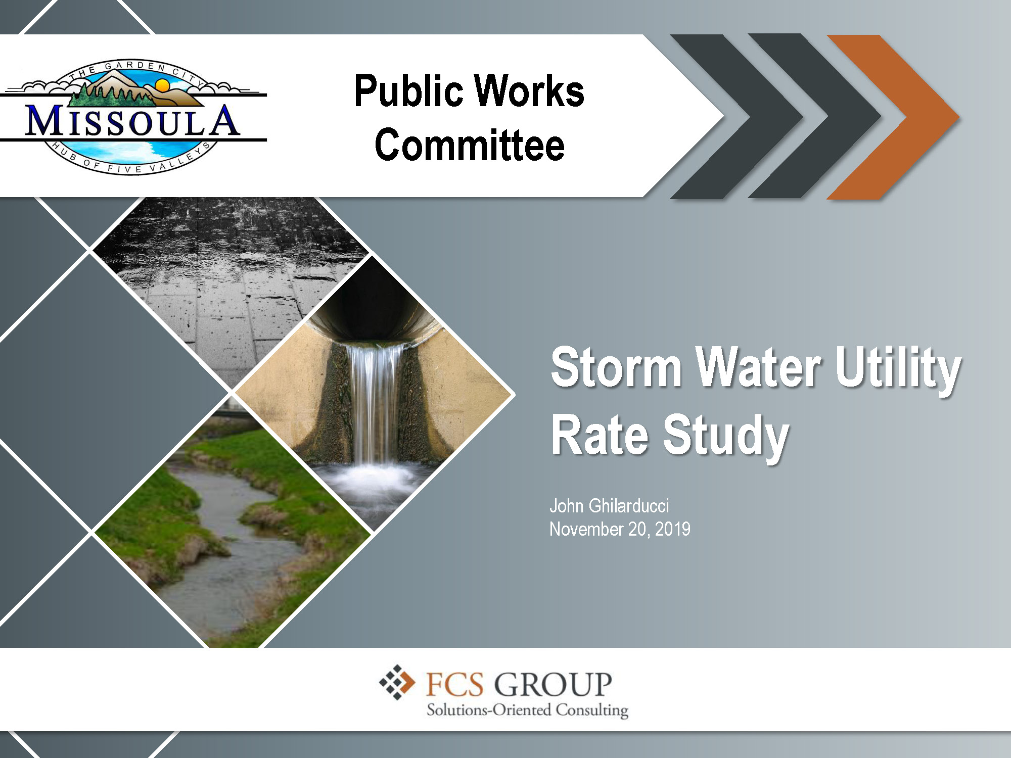 Missoula Storm Water Rate Study link to powerpoint presentation. Opens in new window
